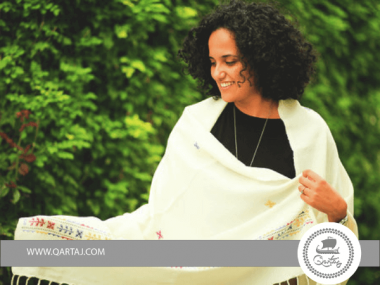 Linen scarves with embroidery Handmade