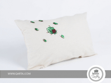 Pillows covers; 100% cotton canvas & recycled cans patch