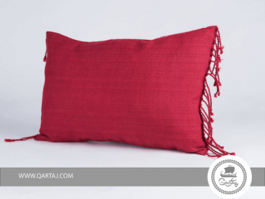 Pillows Red covers 100% linen handwoven, ceramics and embroidery handmade