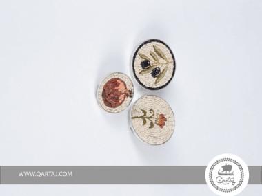 PINS Micro Mosaic & Silver Hand Craved Applied Natural Stone Mosaic