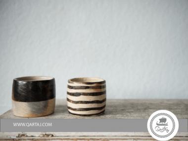 Sejnenia, handmade Pottery with Stripes, Women artisans of Sejnan