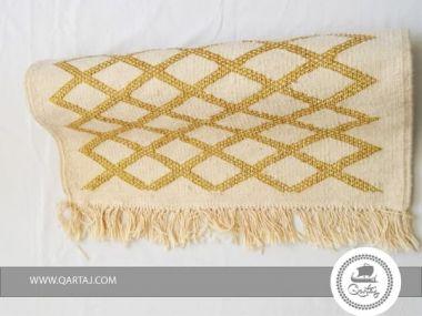 Rug ivory  golden Diamond Etandart Handmade