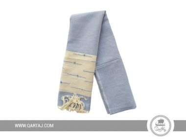 Blue linen and cotton scarf Kerkenatiss