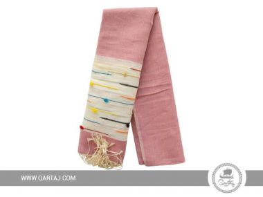 Pink handwoven Scarf From Tunisia