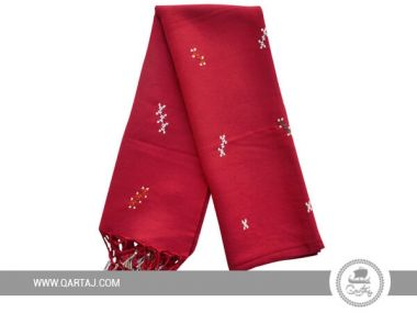 Traditional scarf  with Hand Embroidery with floral motifs