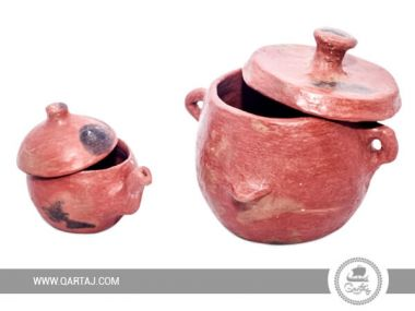 Two deep pots with cover Sejnan Clay: One small and one big