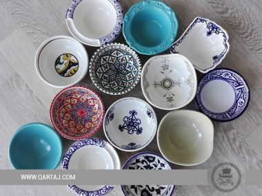A collection of ceramics handmade bowls with different forms