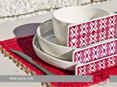 Zagden / Kholkhal Collection/ Faiences handmade in Tunisia.