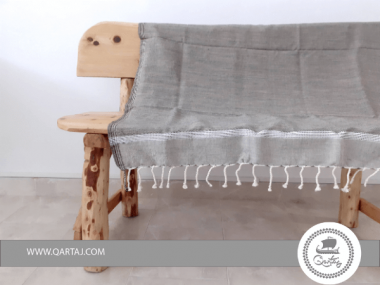 Light Gray Industrial Style Hamam Fouta Beach Towel Bed Spread