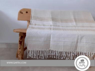 Luxurious Gold Thread Large Hamam Fouta Towel Bed Spread XL