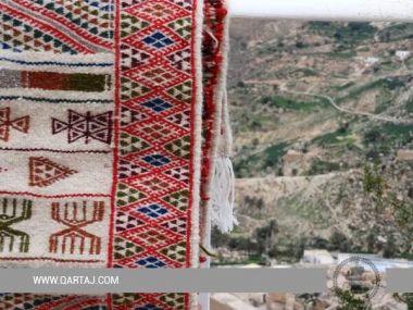 Carpet and Margoum From Toujane handicraft rugs from women Artisans of Toujane