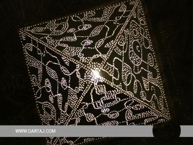 Pyramidal Luster / Lampshade with Calligraphy