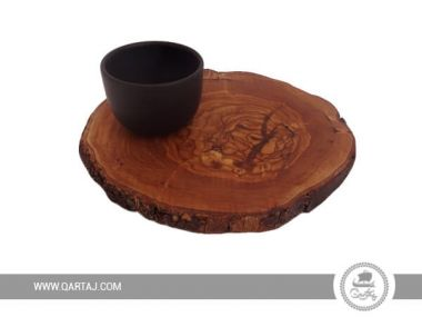 Olive Wood Round Rustic Dark Board
