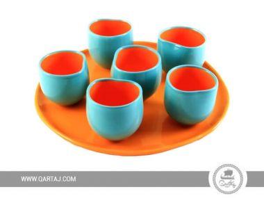 Set of cups Ekho Design, Irregular form white ceramics