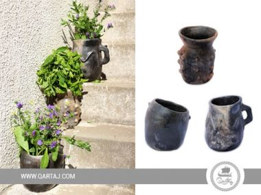 Set of floral pot planter Handmade in Sajnen