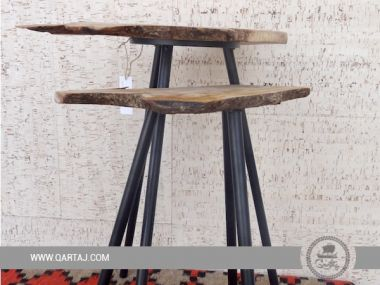 Olive Wood Small Table Rustic and Natural Board