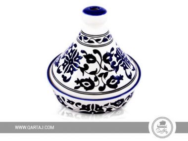 Tunisian Tajine floral painted and decorated
