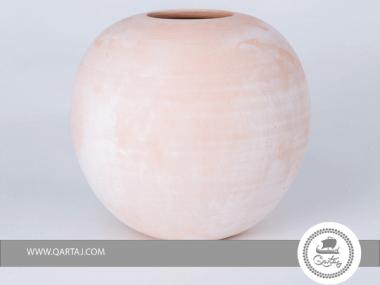 Terracotta Round Vase Small, Tunisian Ghozzi Pottery, wood fired handmade