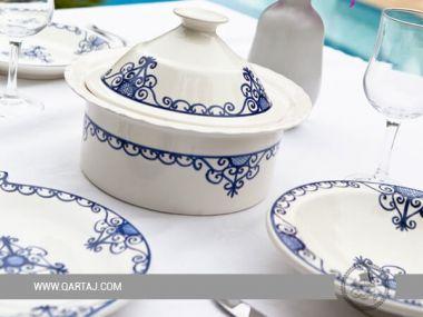 Wrought Iron / Fer forgé Dinnerware Sets blue and white ceramics Handmade