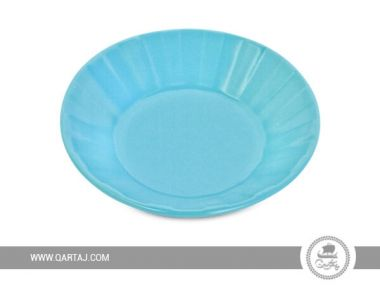 Blue Sky Large Deep plate Unicolor, handmade in Tunisia