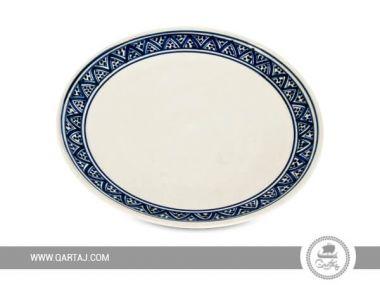 White ceramic plate with blue, wholesale Tunisia Handicrafts