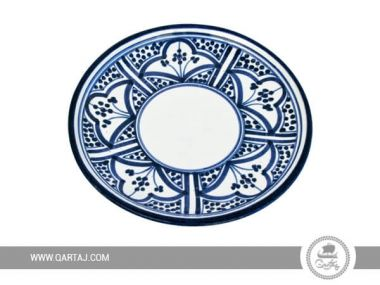 Wholesale Ceramic Plates with blue pattern, Tunisia Handicrafts