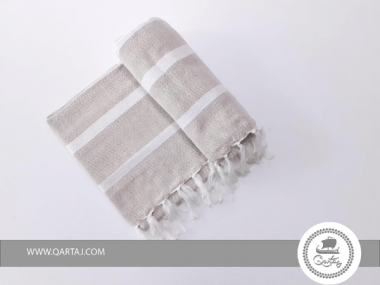 Fouta towel Sand White Stripes