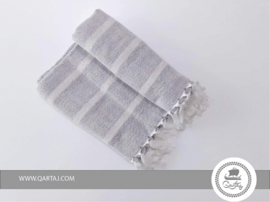 Fouta Stone Blue and White Stripes