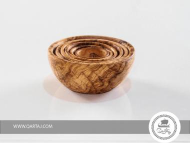 Olive Wood Nesting Bowls Set of 6
