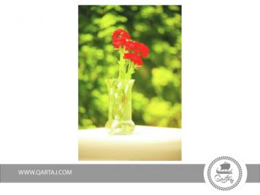 Small Vase Mottled Zitoun Artisanal Handmade In Tunisia