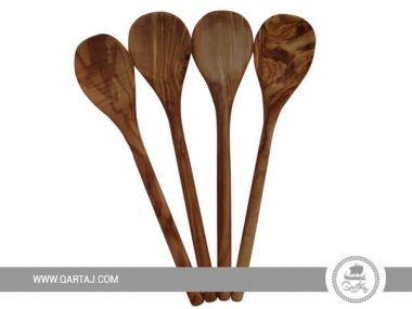 Olive Wood Large Spoons Set of Four