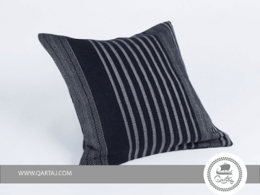 Black with White Stripes Square Pillows covers