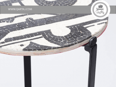 Table Mosaic and Metal, Handmade in Tunisia