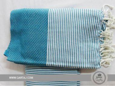 Striped Cotton Fouta Towel, Bath & Beach Towels