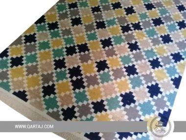 Colorful geometric Rug, Tunisian carpet