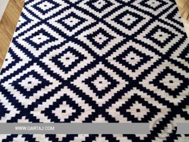 Black & White Rug,Tunisian Handicrafts, 100% Handmade