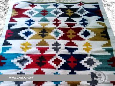 Handmade Modern Geometric Wool Rug, Handwoven