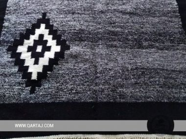 Black & grey Carpet , Handmade in Tunisia