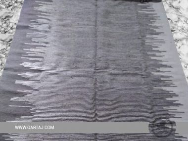 Handmade striped kilim, Berber carpet