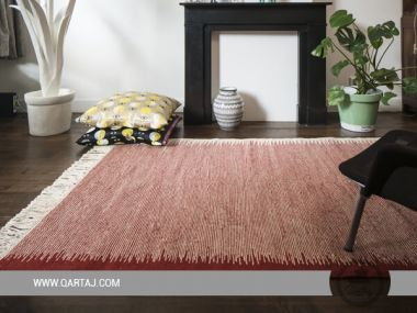 Hand Woven Striped Kilim Flat Weave Reversible Berber Rug