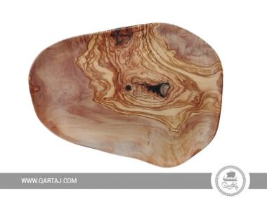 Hand-crafted olive wood plate, irregular Plate, Fair Trade