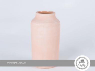 Terracotta, Cylindrical vase Tunisian Ghozzi Pottery, wood fired handmade