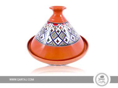 Tunisian round Tajine Hand-Painted Nabeul ceramics