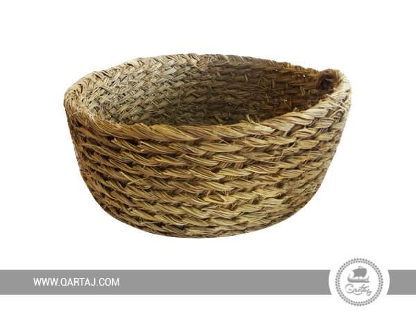Basket with Natural Fiber Halfa Tunisian Artisanal Product