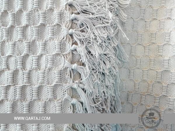 100% Cotton Light  Beige Woven Blanket