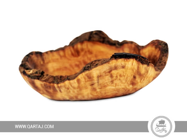 Olive Wood Rustic Small Boat Shaped Bowl