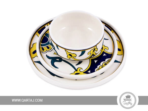 Dinnerware Sets Round serving deep plates, bowls handmade in Tunisia