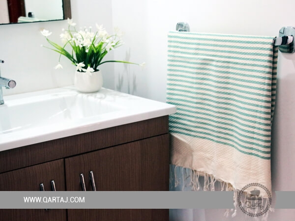 Tunisian Fouta Towel, Bath & Beach Towels, light turquoise