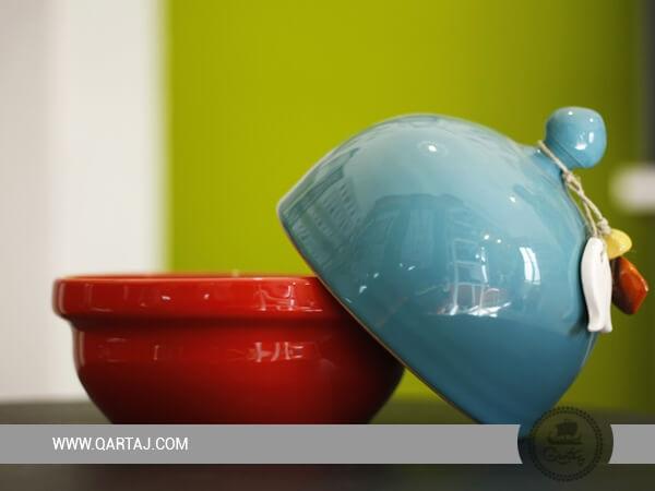 Ceramic Box Roumouz Tunisian Handmade and Bicolored