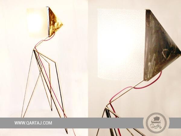 Lampshade Big Size plexiglass  with Iron Design Né à Tunis